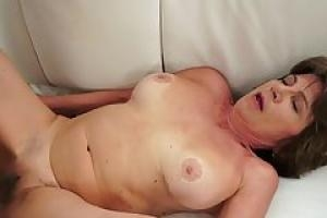 Naughty granny likes to suck dicks like a whore and to get a nice  facial cumshot