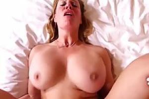 Big titted woman likes to take off her shirt and panties  and get fucked very hard