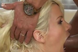 Insatiable blonde slut  Laela Pryce asked her employer to fuck her ass until she cums