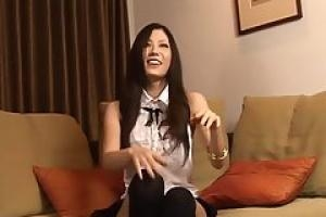 Asian milf is seducing a horny porn agent  while he is recording a hot video