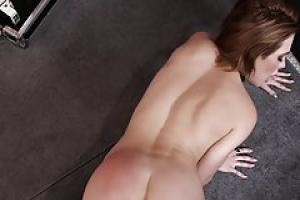 Cock loving redhead babe  Charlie Brooks is smiling  while wildly taking a hard fat dick