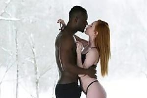 Black man and a sweet  red haired babe  Ella Hughes are fucking like wild animals
